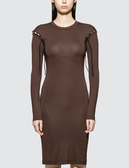Unravel Project Stretchy Lace-up Dress
