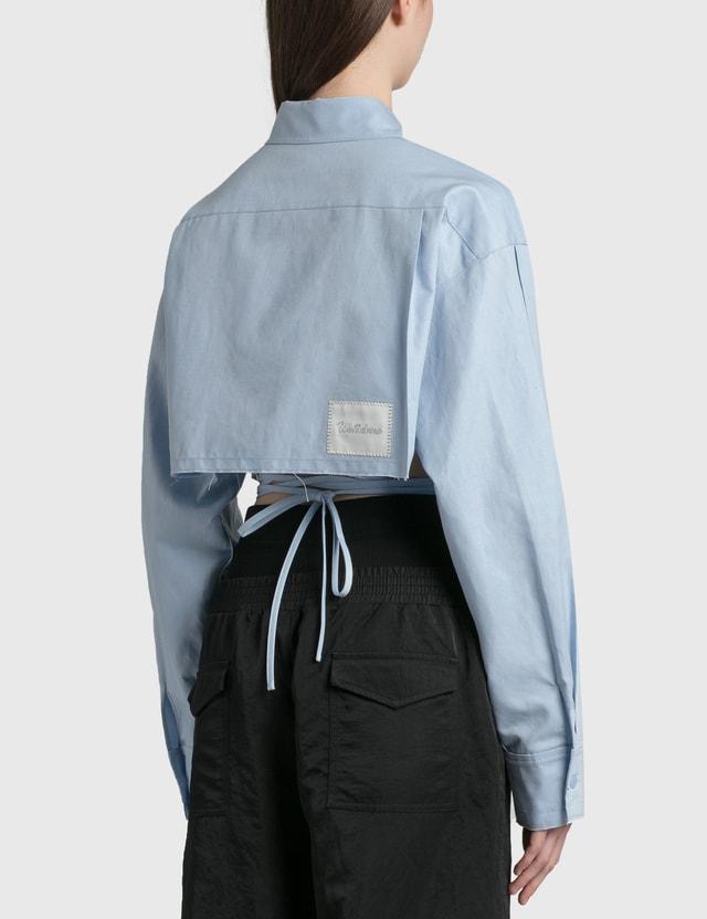 We11done Linen Crop Shirt Sky Women
