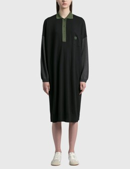 Loewe Anagram Embroidered Oversized Polo Collar Dress
