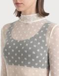 Misbhv Monogram Mesh Off-white Longsleeve Bodysuit