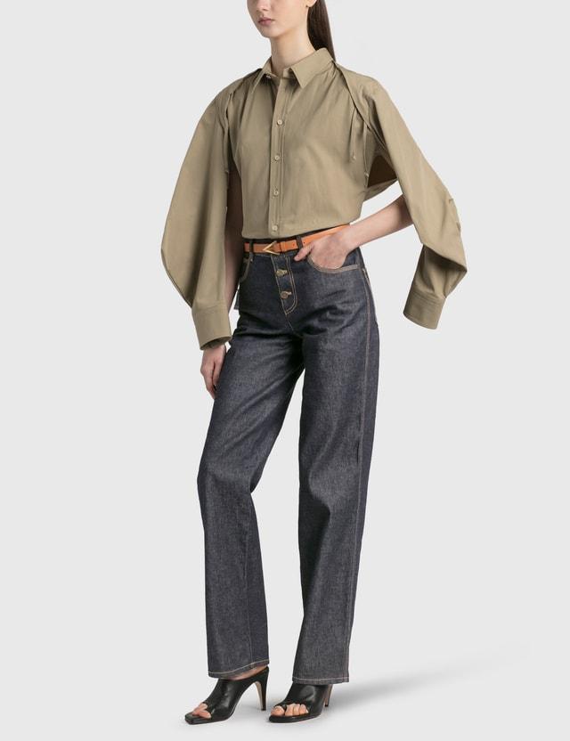 Bottega Veneta 코튼 셔츠 Sand Women