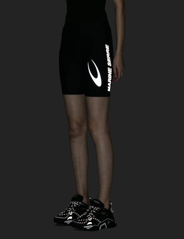 Marine Serre Feminine Shiny Cycling Shorts