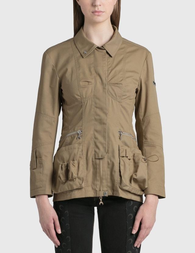Marine Serre Survival Multipocket Jacket Beige Women