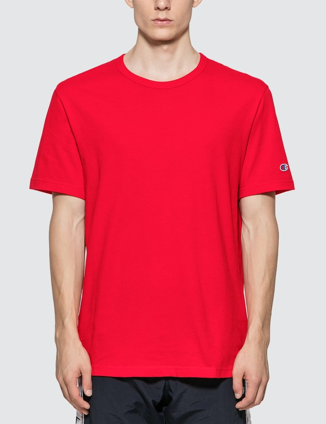 Champion Reverse Weave Basic Crewneck T-shirt Red Men