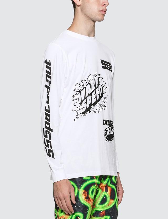 SSS World Corp Sponsors Multiprint Long Sleeve T-Shirt White Men