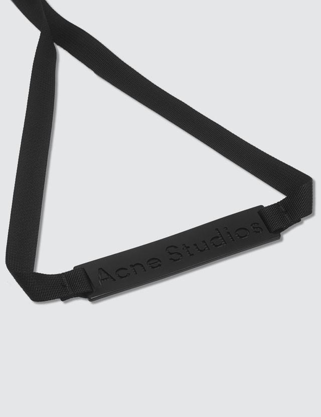 Acne Studios Tri-fold Face Patch Key Holder Black/brown Men