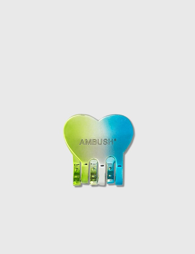 Ambush Heart Hair Clip Small GreenAnd Blue Gble Women