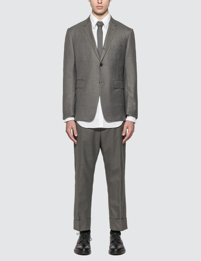 Thom Browne Super 120s Classic Wool Twill Suit With Tie