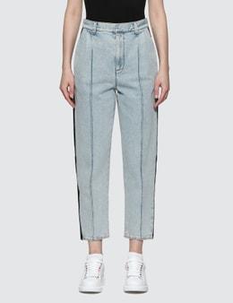 Alexander McQueen Denim Peg Leg Jeans