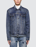 Levi's Claremont Red Housemark Trucker Jacket Picture