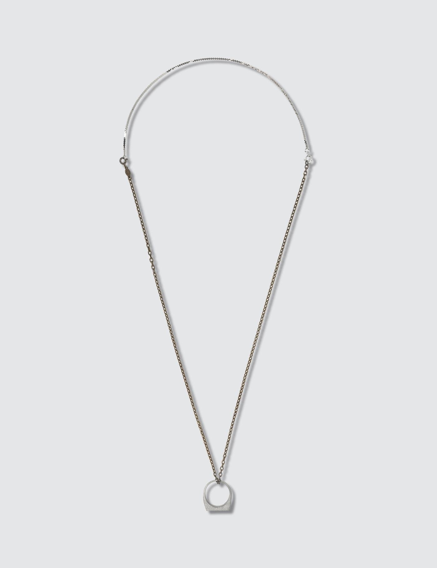 Du00e9cortiquu00e9 Pendant Silver Necklace