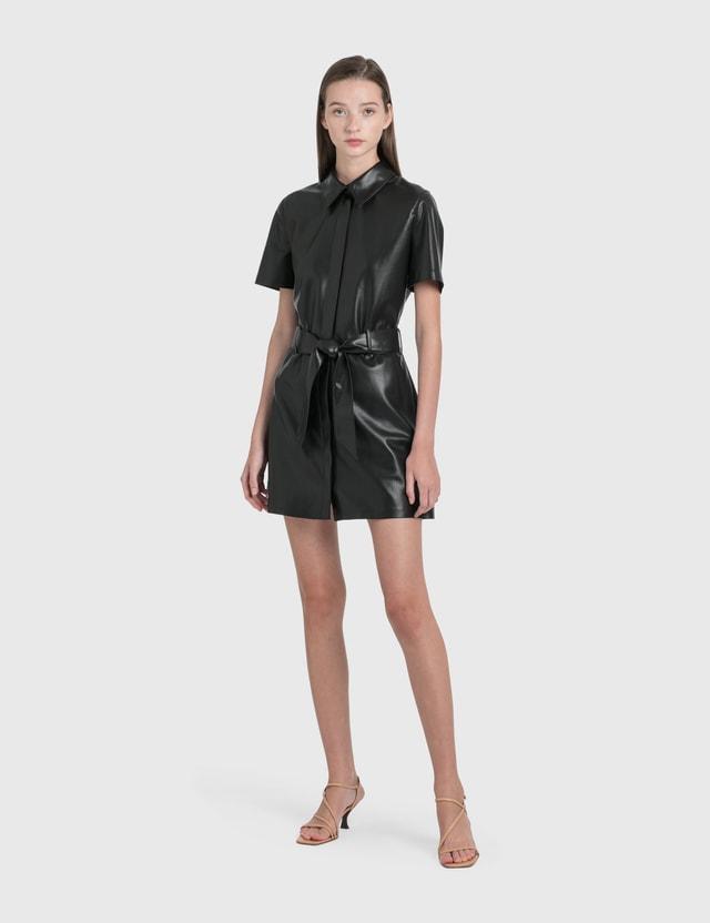 Nanushka Halli Vegan Leather Mini Dress
