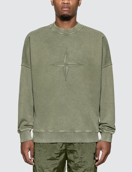 Stone Island Compass Embroidered Sweatshirt