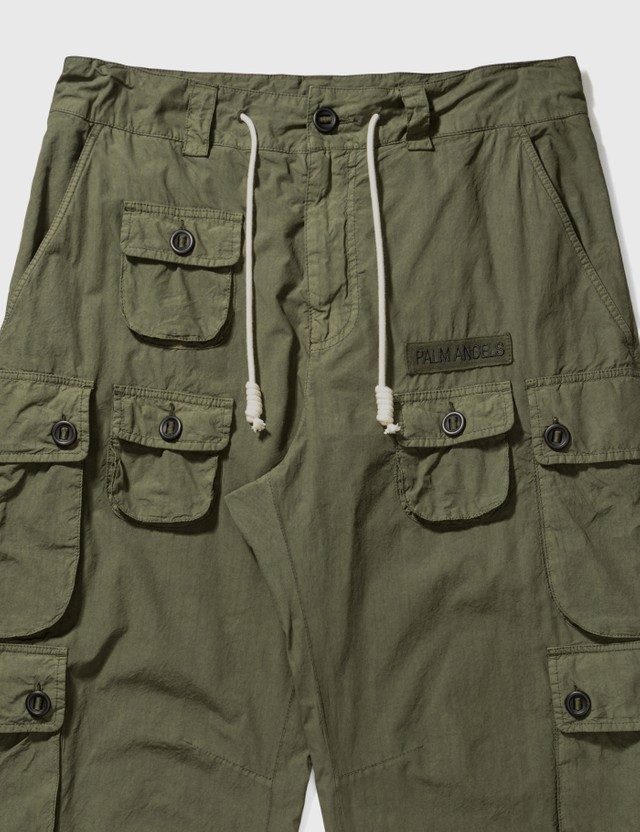 Palm Angels Full Pockets Cargo Pants Green Men