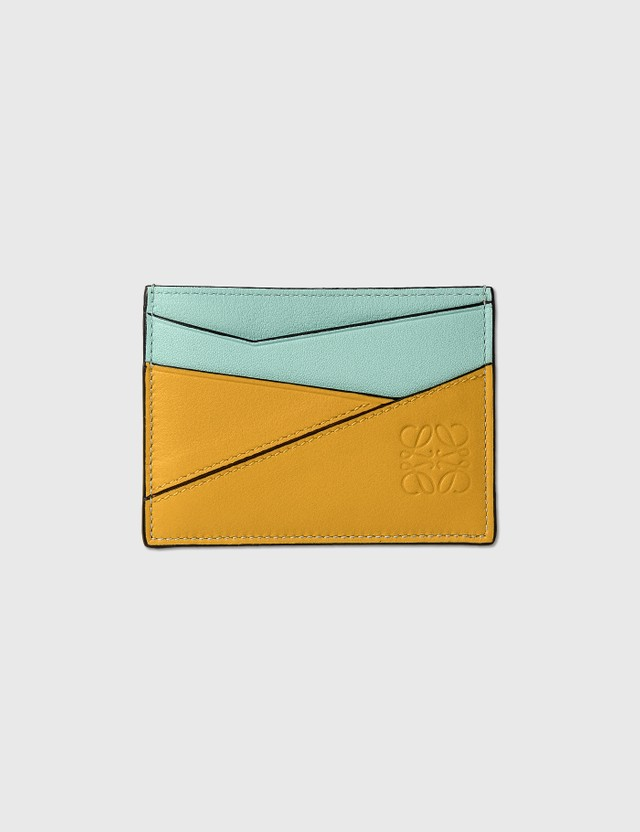 Loewe Puzzle Plain Cardholder Yellow Mango/multicolor Women