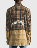 Palm Angels Bleached Loose Shirt Brown Men