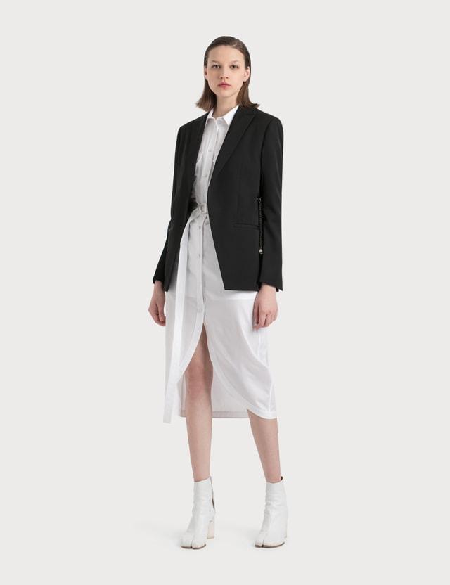 Helmut Lang Cotton Shirt Dress With Collar 100 - White Women