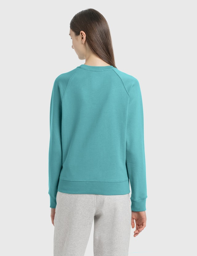 MSGM Brush Logo Sweatshirt Light Blue Women