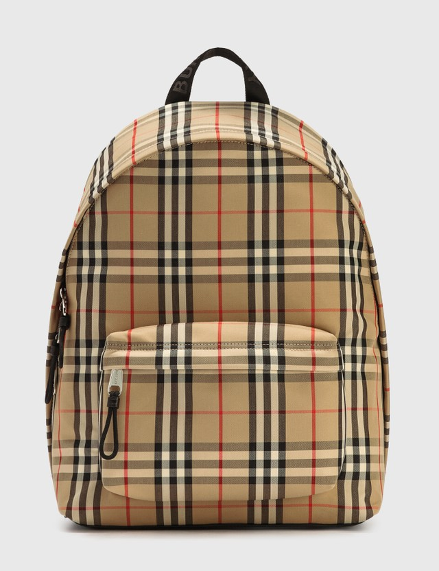 Burberry Vintage Check Nylon Backpack Archive Beige Ip Chk Men