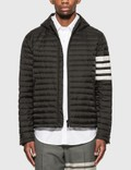 Thom Browne 4 Bar Stripe Downfill Qulited Hooded Jacket Picutre
