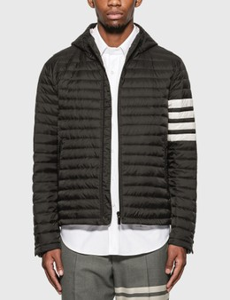 Thom Browne 4 Bar Stripe Downfill Qulited Hooded Jacket