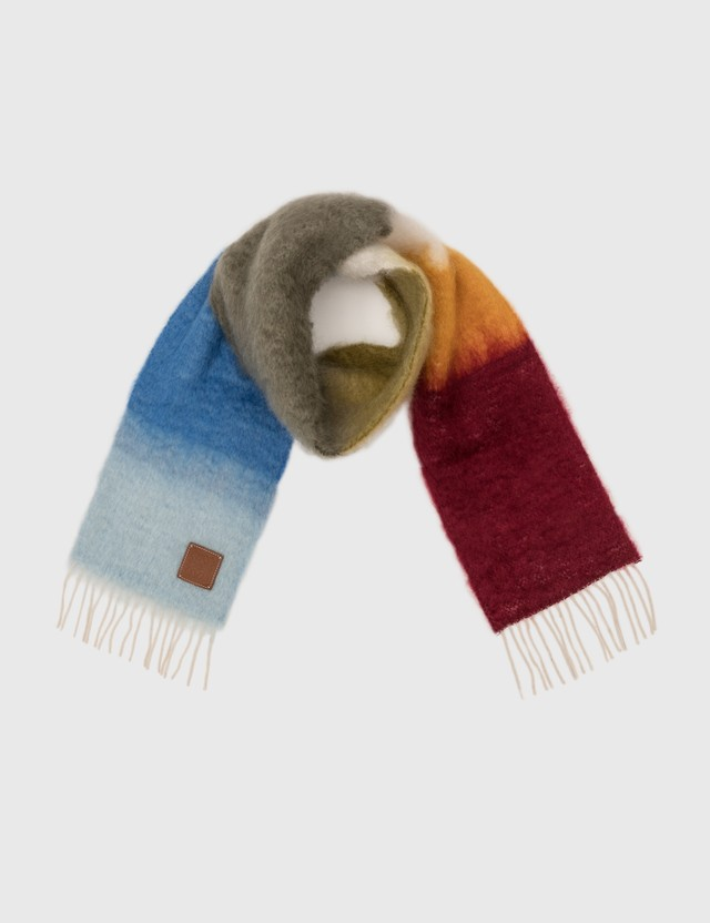 Loewe Stripe Scarf Brown/blue Men