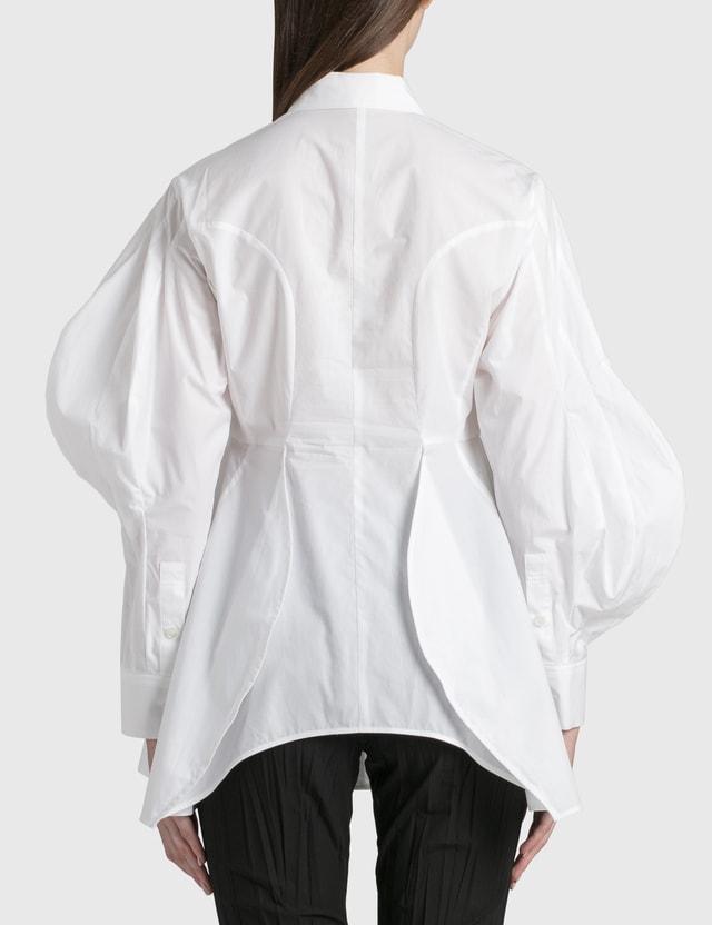Enföld Deformed Curve Shirt White Women
