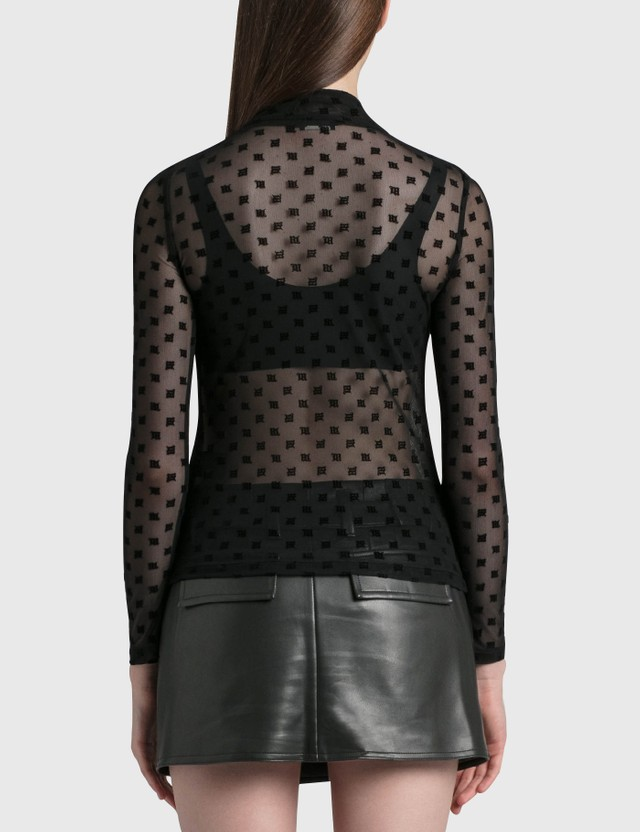 Misbhv Monogram Mesh Turtleneck Black Women