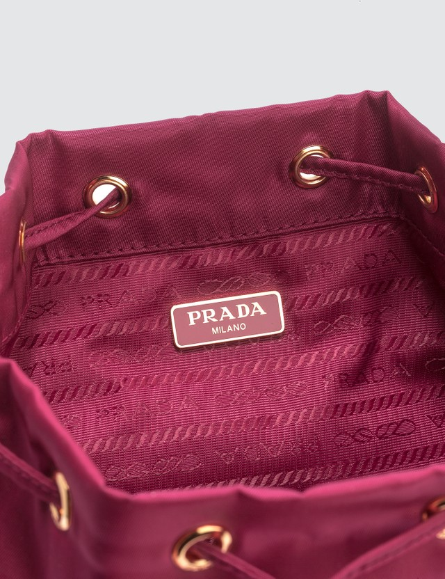Prada Mini Nylon Bucket Bag