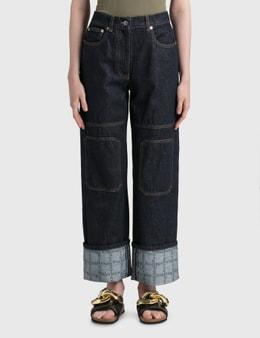 JW Anderson Logo Grid Turn Up Workwear Jeans