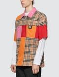 Burberry Colour Block Vintage Check Cotton Shirt