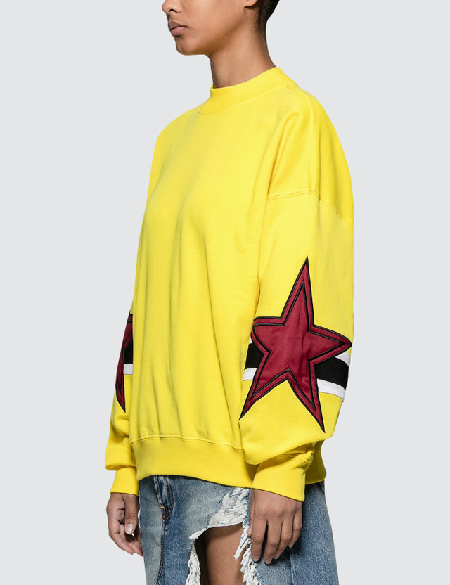 MSGM Stars Intarsia Rugby Sweatshirt