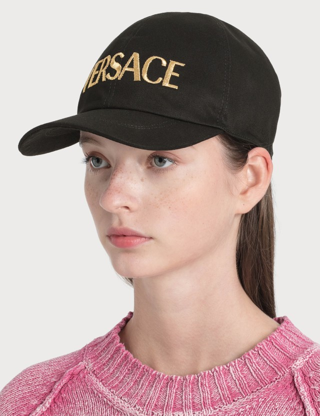 Versace Embroidered Logo Cap