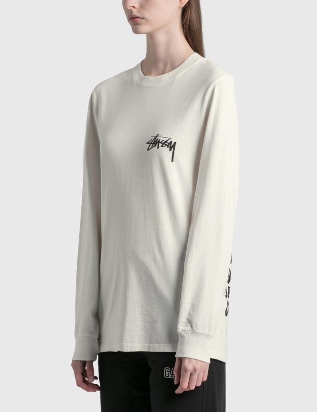 Stussy Spring Weeds Long Sleeve T-Shirt White Women