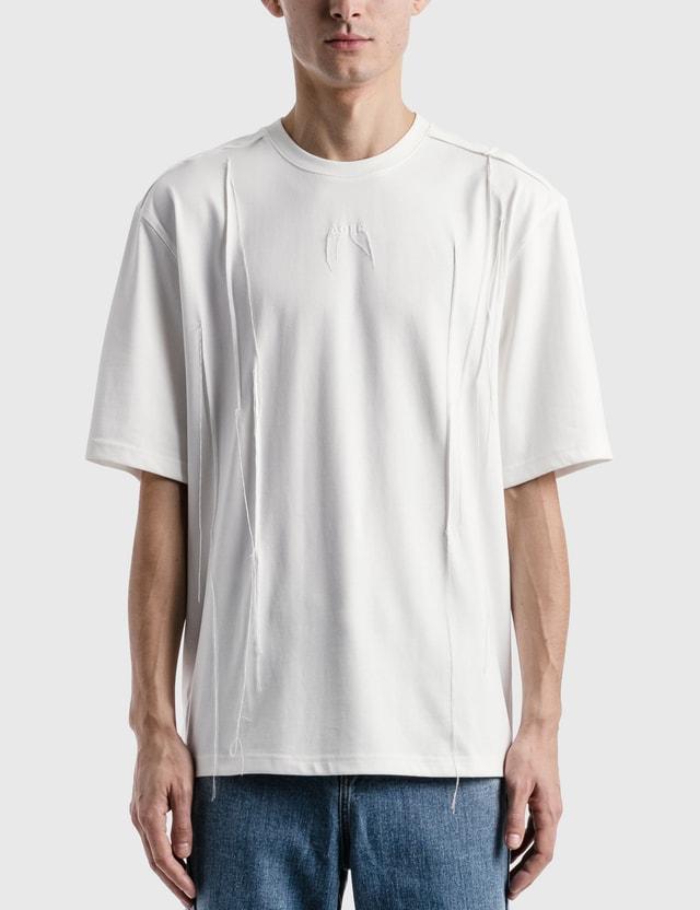 Ader Error Needle Logo T-shirt White Men