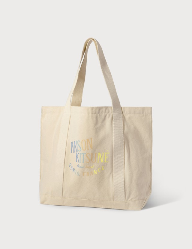 Maison Kitsune Rainbow Palais Royal Shopping Bag