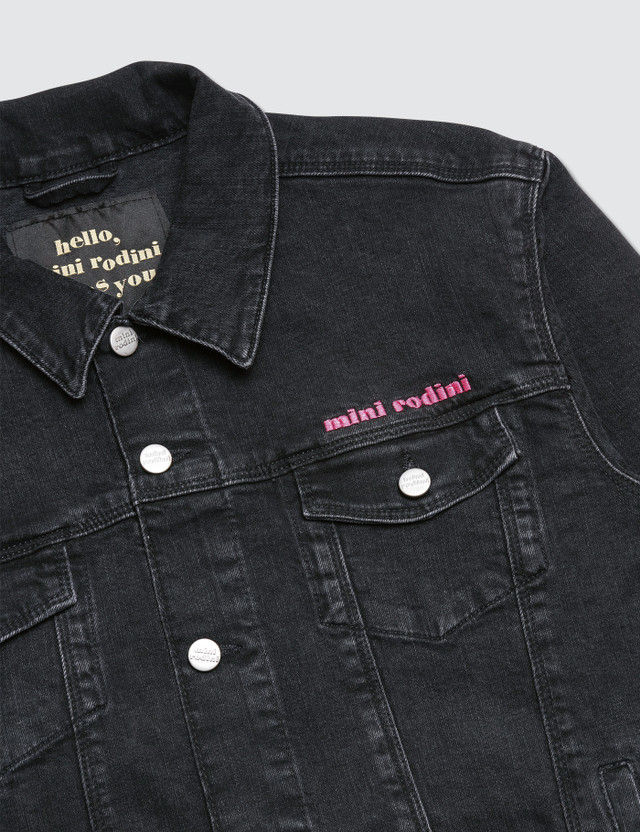 Mini Rodini Cheer Cat Denim Jacket