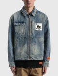 Heron Preston Worker Logo Patch Denim Jacket 사진