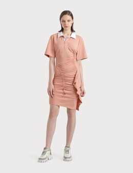KOCHÉ Gathered Polo Dress