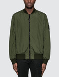 Stone Island Garment Dyed Crinkle Reps Nylon Bomber Jacket Picture