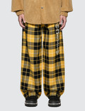 Alexander Wang Luxe Plaid Pajama Pant with Screen Print Picture