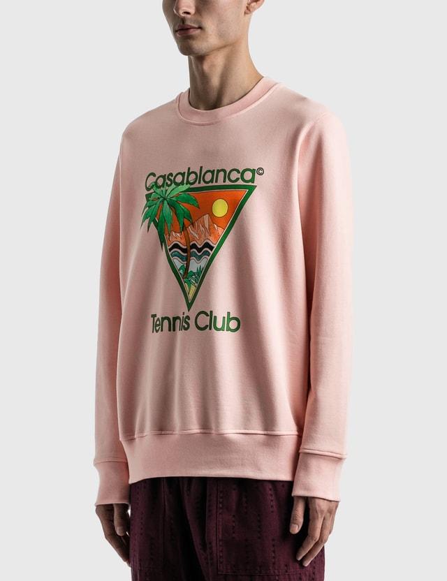 Casablanca Tennis Club Icon Screen Printed Sweatshirt Pink Men