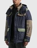 White Mountaineering WM x LMC Padded Jacket Indigo Men