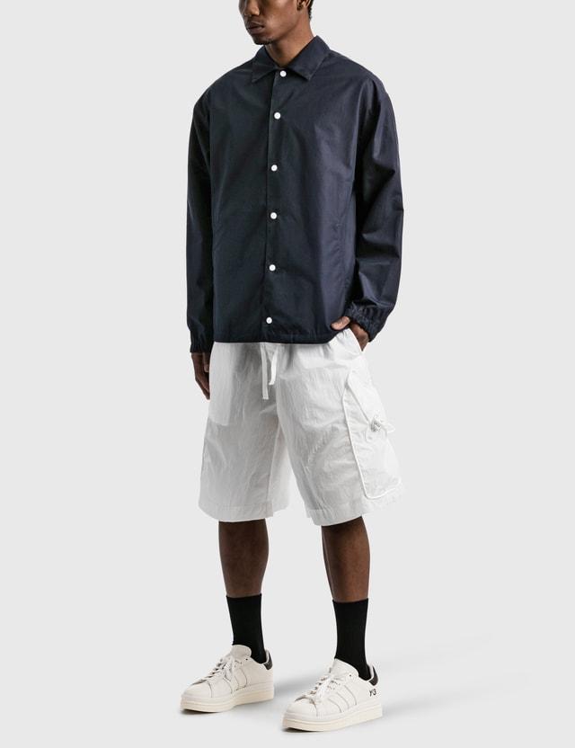 Emporio Armani Organic Cotton Shirt Jacket Blu Navy Men