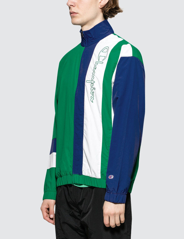 Champion Reverse Weave Striped Panel Track Jacket