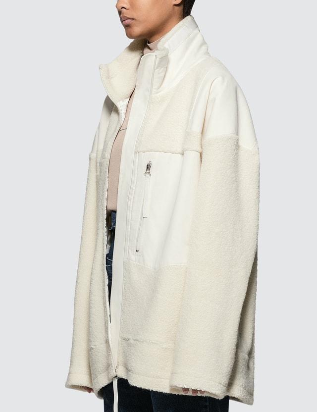 MM6 Maison Margiela Oversized Sherpa Zip Jacket