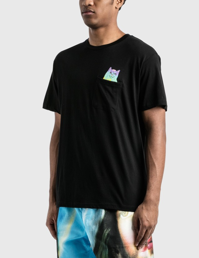 RIPNDIP Rainbow Nerm Pocket T-Shirt Black Men
