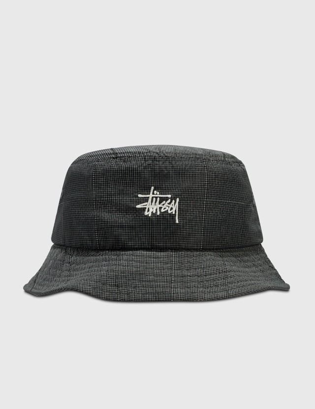 Stussy Reflective Window Pant Bucket Hat Black Women