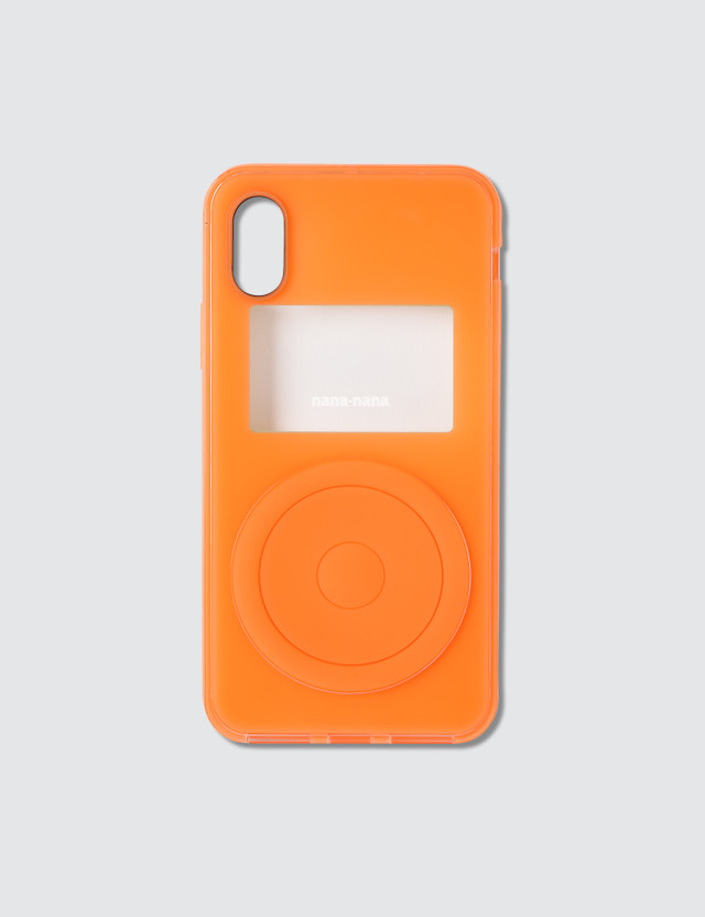 Nana-nana Not A Music Player Iphone Case Neon Orange Unisex