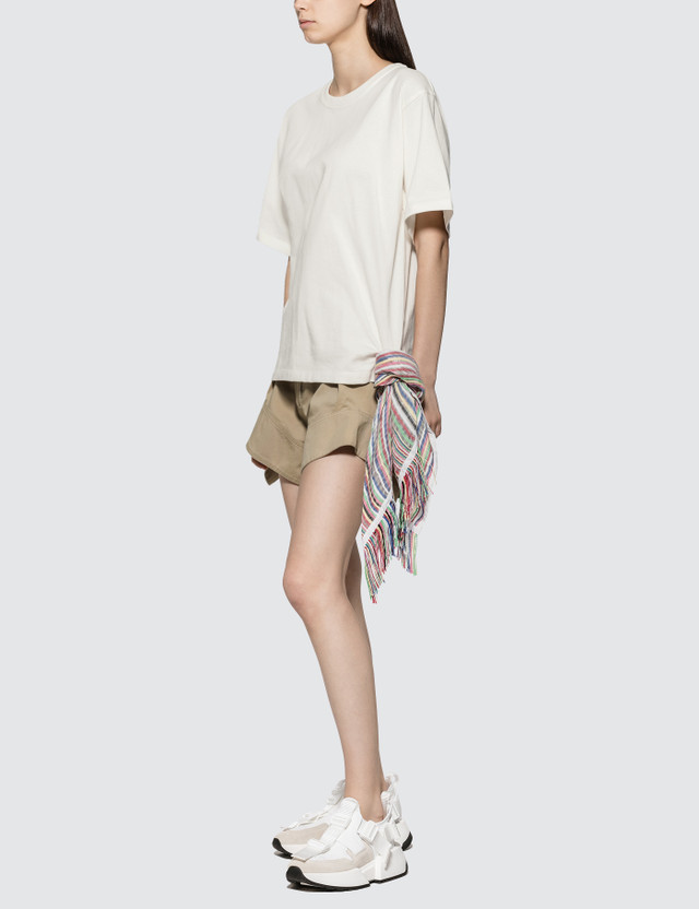 JW Anderson Chino Curved Hem Shorts Flax Women